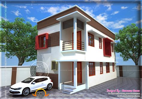 5 Cent Home Designs : Small Plot Villa In 2.75 Cents Of Land