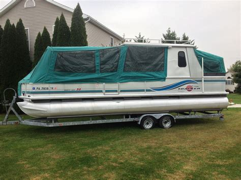 5 Star Aluminum Bass Boat Trailers by Sun Tracker 30ft Party Hut Pontoon Boat W Hard Roof And