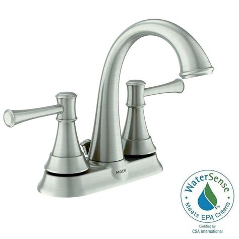 moen ashville robinet de salle de bain 224 1 poign 233 e fini nickel bross 233 spot resist home