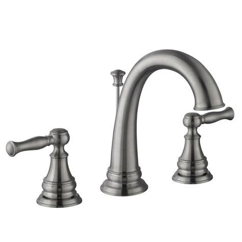 glacier bay fairway 8 in widespread 2 handle high arc bathroom faucet in brushed nickel