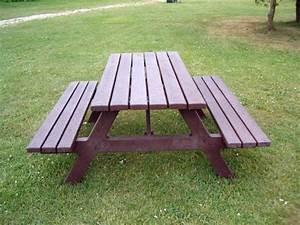 Parkbank Mit Tisch : hahn kunststoffe hanit picknickb nke das original ~ Markanthonyermac.com Haus und Dekorationen
