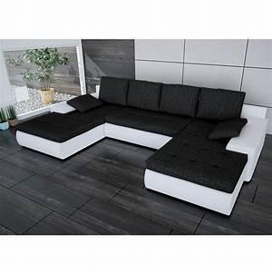 Sofa In U Form : sofa linosa wei schwarz ecksofa von jalano wohnlandschaft u form schlaf couch ebay ~ Markanthonyermac.com Haus und Dekorationen