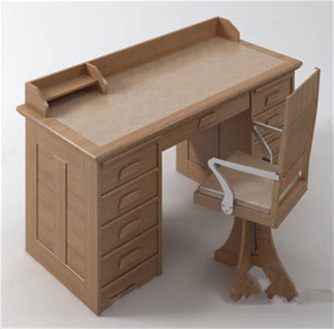 mod 168 168 le de bureau en bois massif 3d model free 3d models
