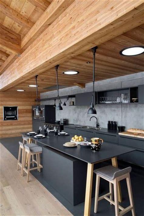 la cuisine ouverte ose le noir pour se faire d 233 co