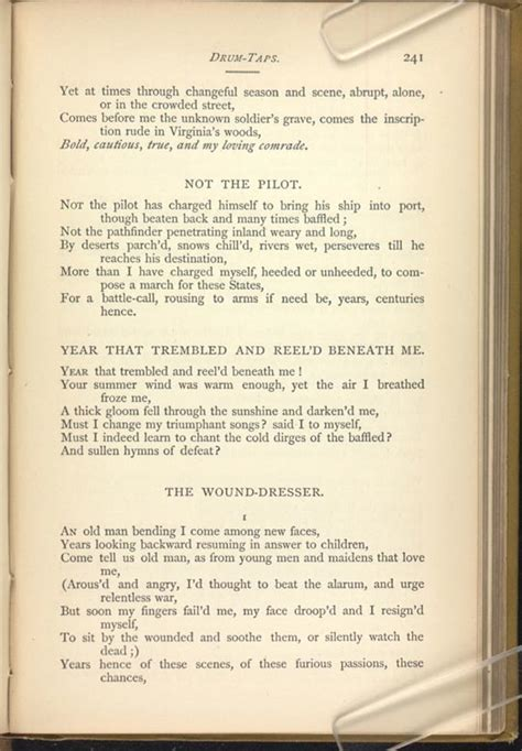 walt whitman the wound dresser poem analysis 28 images book store the wound dresser the
