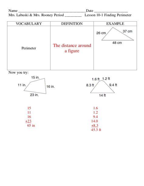 Lesson 10 1 Perimeter