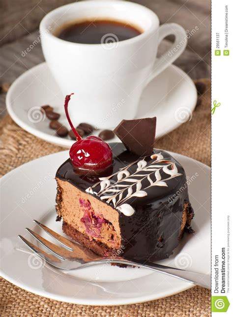 sweet dessert and a cup of coffee stock image image 29561137