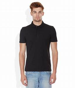 Celio Black Polo Neck T Shirt - Buy Celio Black Polo Neck ...