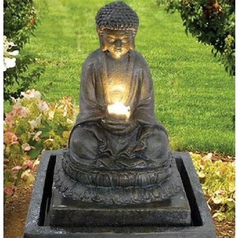 fontaine bouddha illumination achat vente fontaine de jardin fontaine bouddha illumination