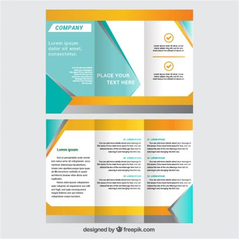 Brochute Template Free Download by Trifold Brochure Template Vector Free Download