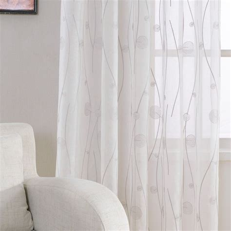 pas cher nouveau brod 233 blanc sheer rideaux pour salon chambre motif abstrait fen 234 tre tulle