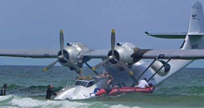 Flying Boat Movie by Air Museum Network Pby Beached During Filming Of Wwii Movie