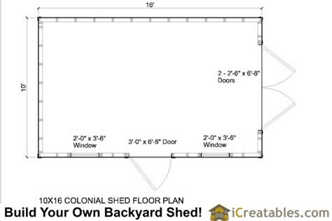 10x16 shed floor plans 10x16 colonial shed plans icreatables sheds