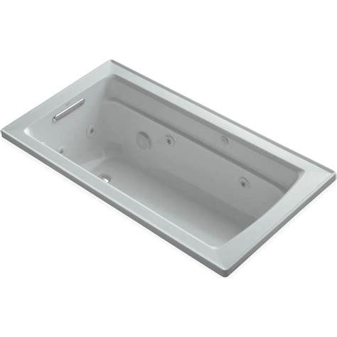 kohler archer 5 ft acrylic rectangular drop in whirlpool