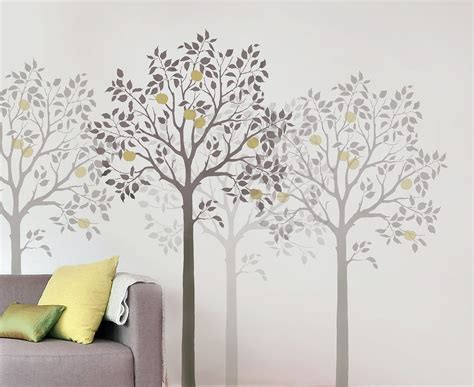 large fruit tree stencil easy reusable wall stencils for diy decor other