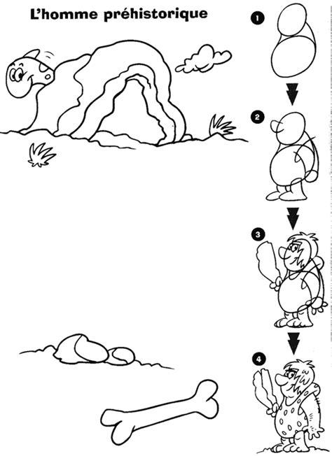 comment dessiner un homme prehistorique