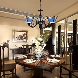 Kronleuchter Mit Lampenschirm : ausverkauft eu lager 40w antike tiffany kronleuchter mit 3 lampen blau lampenschirm ~ Markanthonyermac.com Haus und Dekorationen