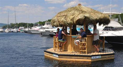 Tiki Party Boat Miami by A First Look At Lake George Floating Tiki Bar Times Union