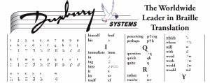 Braille Charts for Summary Reference   Paths to Literacy