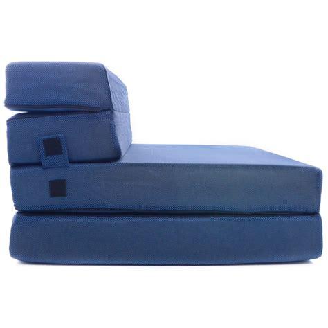 tri fold foam folding mattress sofa bed dudeiwantthat
