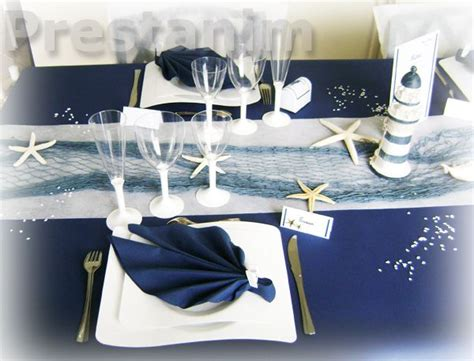 d 233 coration th 232 me mer assiettes vague jetable et pliage de serviette marine marin