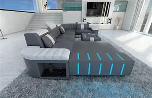 Sofa U Form Grau : polstersofa wohnlandschaft bellagio u form design sofa mit led beleuchtung ebay ~ Markanthonyermac.com Haus und Dekorationen