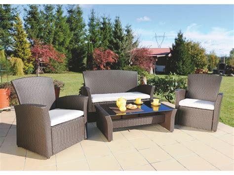 salon de jardin en rotin synth 233 tique lima wenge patio ensembles mobilier de jardin jardin
