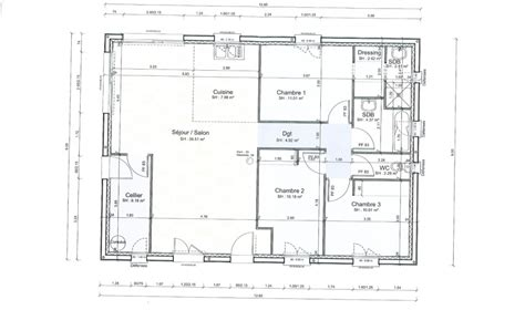 plan maison interieur maison moderne