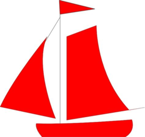Red Boat Clipart by Red Sail Boat Clip Art At Clker Vector Clip Art