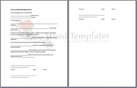 Agreement Template Category Page 3