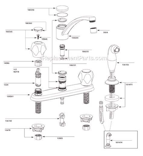moen ca87681 parts list and diagram ereplacementparts