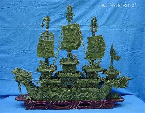 Jade Dragon Boat Carving by Jade Dragon Boat Carving Handmade In China Bj100a