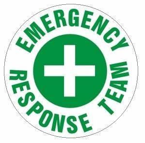 EMERGENCY RESPONSE TEAM, Hard Hat Labels