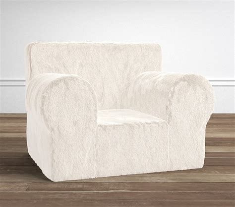 ivory faux fur oversized anywhere chair 174 slipcover only