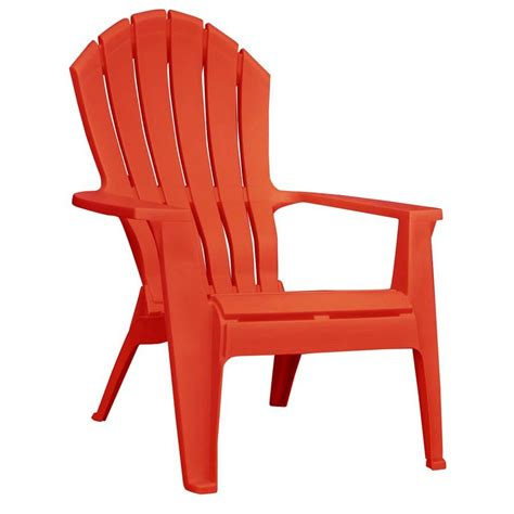 shop mfg corp 1 count resin stackable patio adirondack chair with at lowes