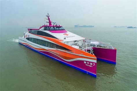 Catamaran Ferry Safety by Incat Crowther Launches 40m Catamaran Passenger Ferry In China