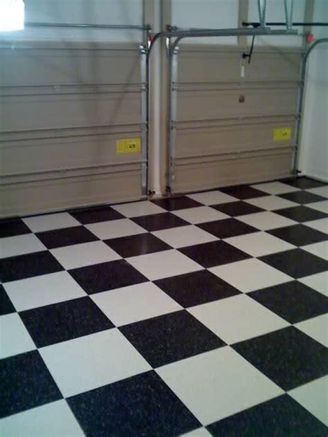 installing vinyl composition tile vct garage flooring