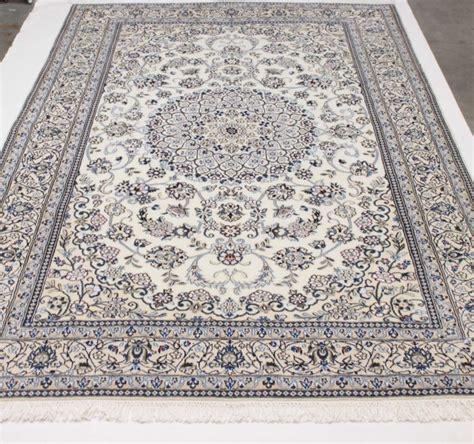 splendide tapis persan nain en et soie iran catawiki