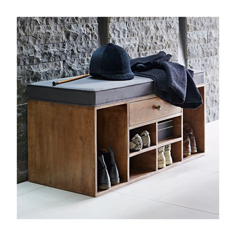 Bench With Shoe Storage And Drawers