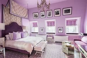 Wandgestaltung Schlafzimmer Lila : wandfarben im schlafzimmer 105 ideen f r erholsame n chte ~ Markanthonyermac.com Haus und Dekorationen