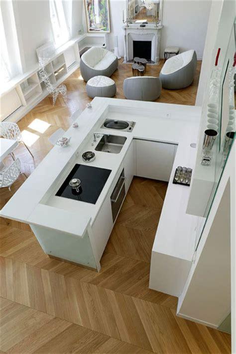cuisine lineaquattro en verre blanc