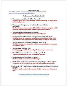 Russian Revolution Worksheet Worksheets Ratchasima