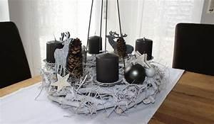 Adventskranz Edelstahl Dekorieren : aw102 adventskranz zum stellen oder h ngen dekoriert mit zapfen filzhirschen sternen und ~ Markanthonyermac.com Haus und Dekorationen