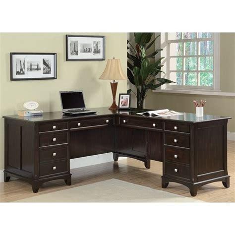 coaster garson 8 drawer l shaped computer desk in walnut