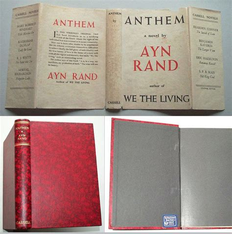 anthem by ayn rand 1st edition 1938 from tbcl the book collector s library and biblio