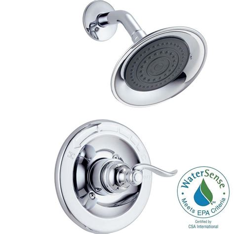 delta windemere 1 handle shower only faucet trim kit in chrome valve not included bt14296