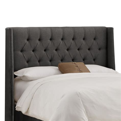 wingback tufted headboard tufted wingback headboard