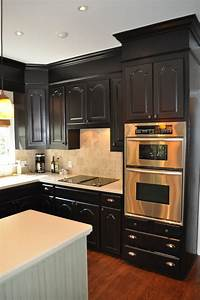 dark kitchen cabinets One Color Fits Most: Black Kitchen Cabinets