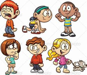 Happy Kids Cartoon Characters » Tinkytyler.org - Stock ...