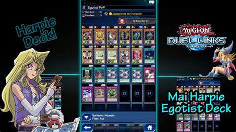 yugioh duel links mai harpie egotist pvp deck tutorial